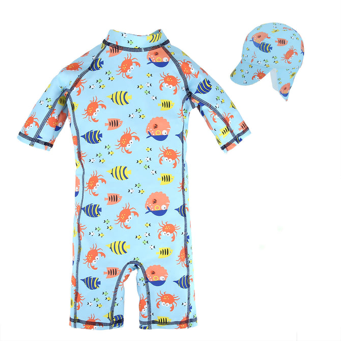 Kids Baby Boys Anti UV All-in-One Sun Protection Q69