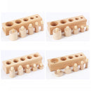 Wooden Montessori Educational Cylinder Socket Blocks Toy