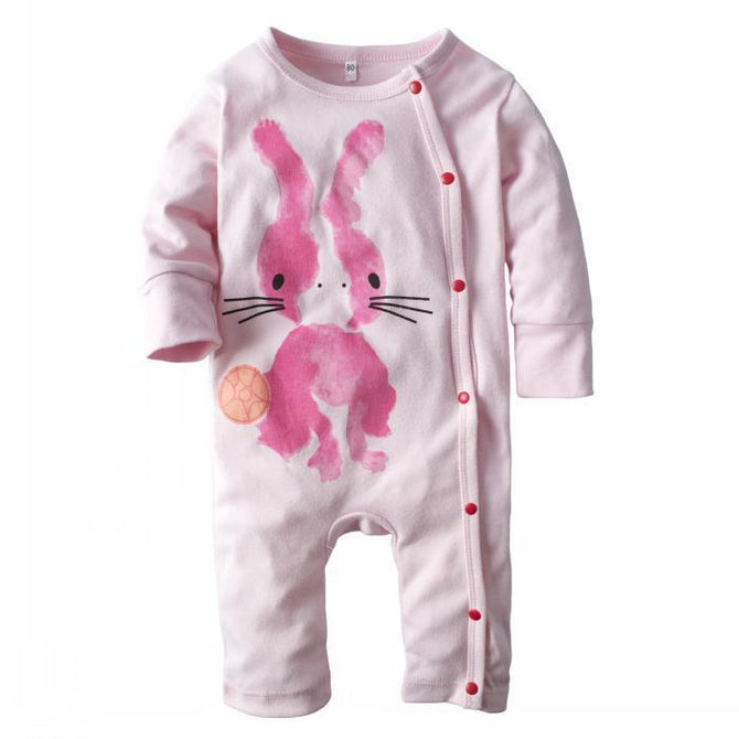 e2872b99595 Baby Girls  One Piece Snap-Up Long Sleeve Romper Coverall – Agudan