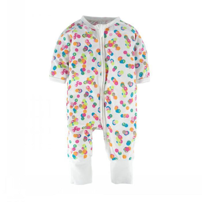 c7498cfd986a Baby Girls 1 Piece Long Sleeve Pajama Graphic Print Zipper Romper ...