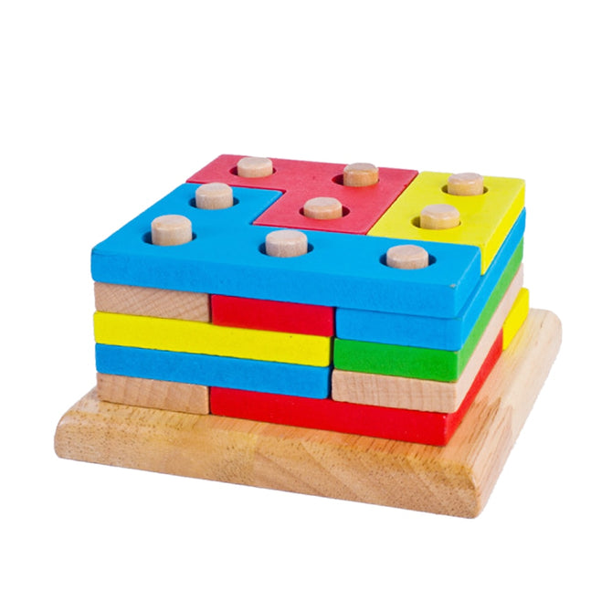 Wooden Montessori Building Blocks