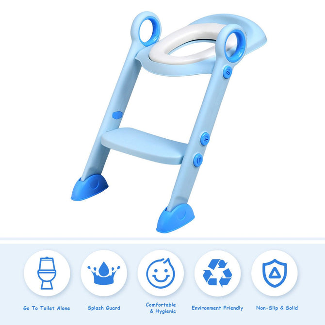 Baby Potty Training Seat with Non-Slip Ladder
