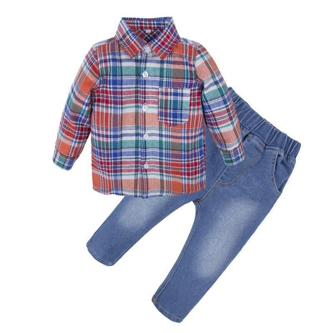 Baby Boys Graphic Jeans Long Sleeve