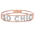 Only You Personalized Iconic Bracelet Rose Gold - Spallanzani Jewelry