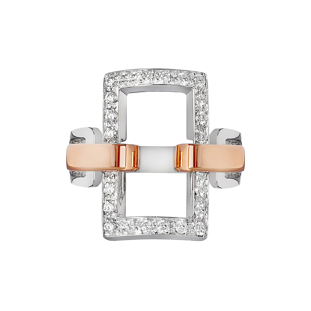 Manette rectangular ring