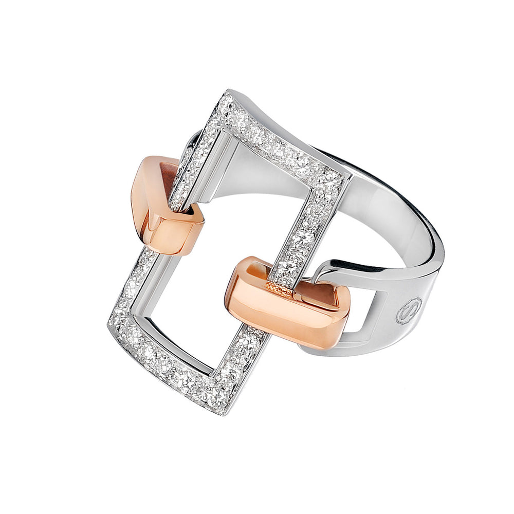 Manette rectangular ring - Spallanzani Jewelry