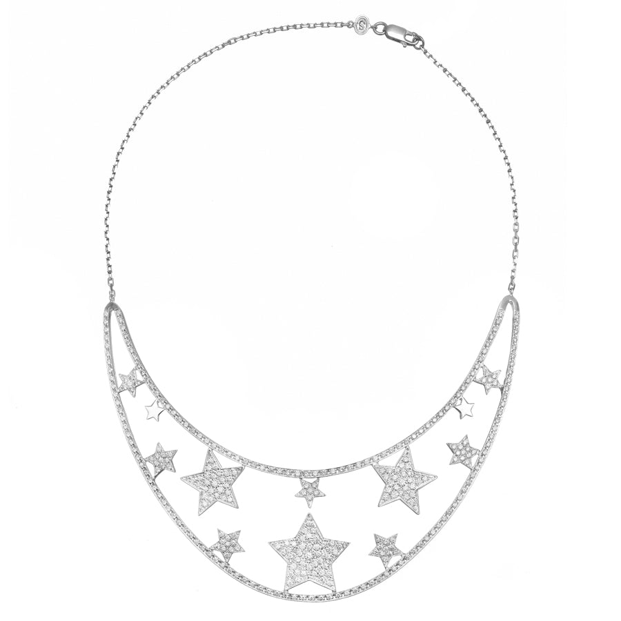 Stella on the moon full diamonds Necklace