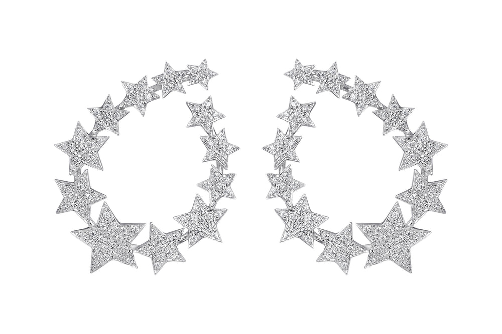 Stella Star Hoop Earrings - Spallanzani Jewelry