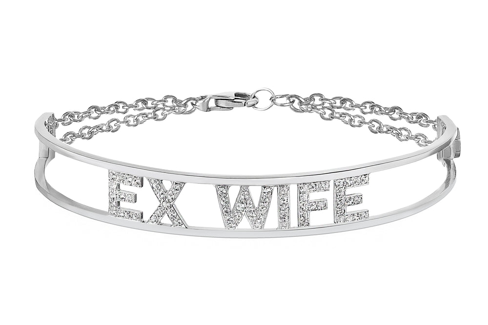 Only You Personalized Iconic White Gold Bracelet - Spallanzani Jewelry