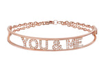 Only You Personalized Iconic Rose Gold Bracelet - Spallanzani Jewelry