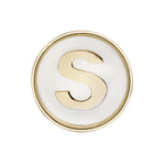 Sophia white enamel Buckle - Spallanzani Jewelry