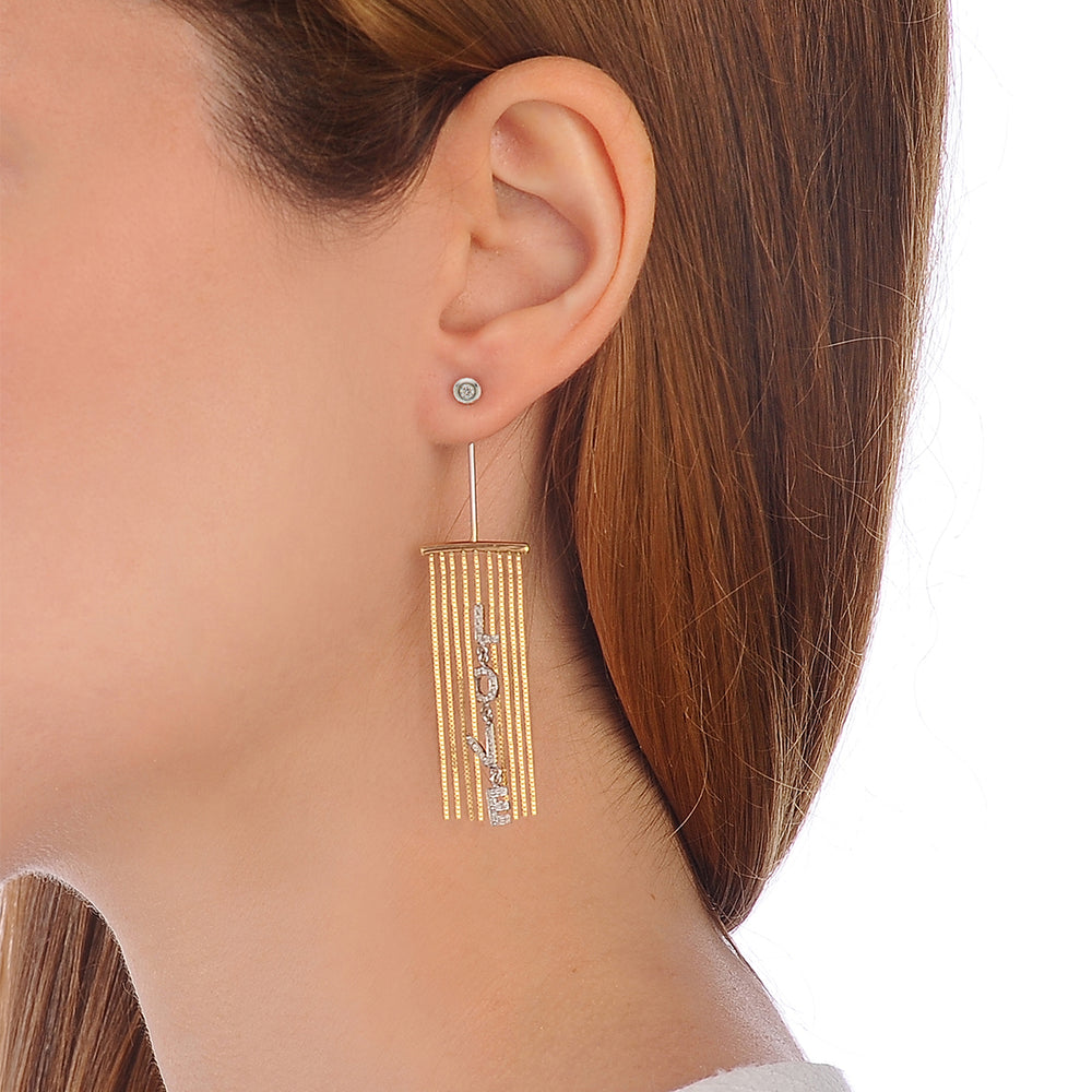 Only You Mono Fringe Earring - Spallanzani Jewelry