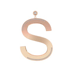 Only You Big Letter Earring - Spallanzani Jewelry