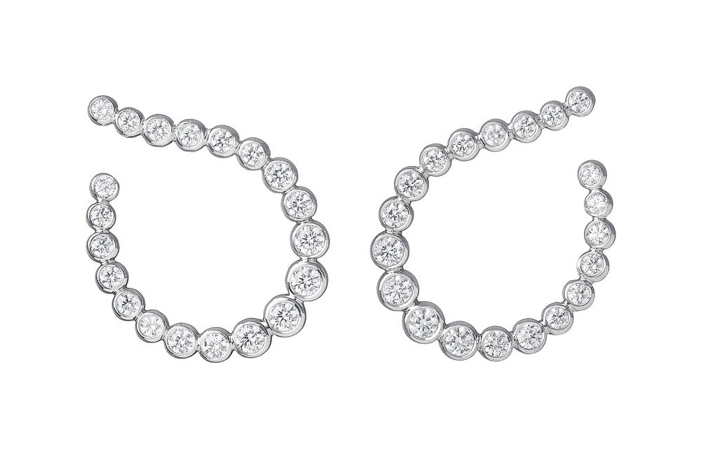 Audrey Hoop Earrings - Spallanzani Jewelry