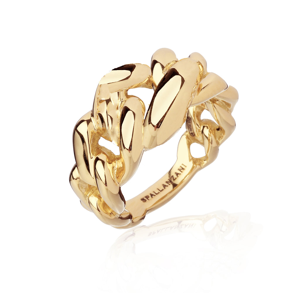 Manette gourmet Ring solid gold - Spallanzani Jewelry
