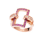 You&Me rectangular full pavè ring - Spallanzani Jewelry