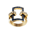 You&Me rectangular full pavè ring