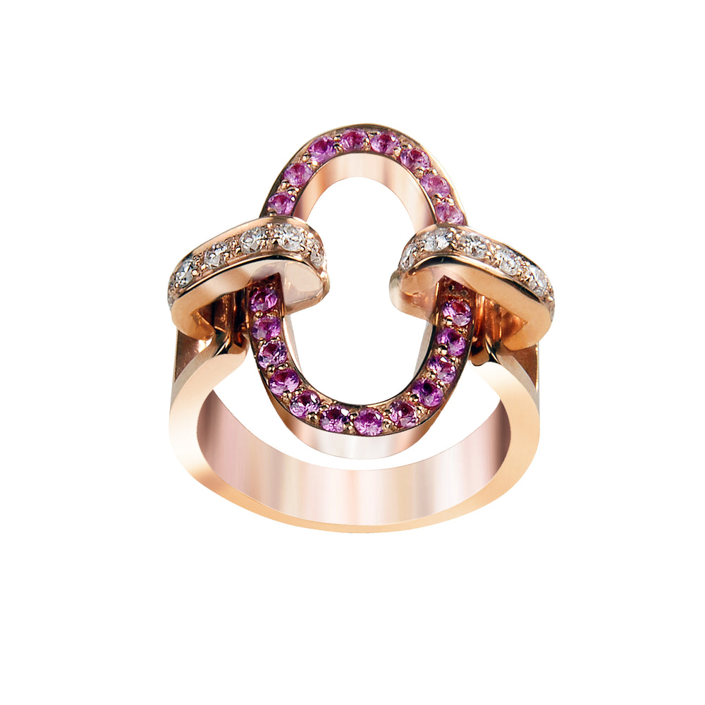 You&Me oval full pavè ring