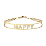 Only You Personalized Iconic Yellow Gold Bracelet