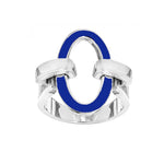 you&me enameled ring - Spallanzani Jewelry