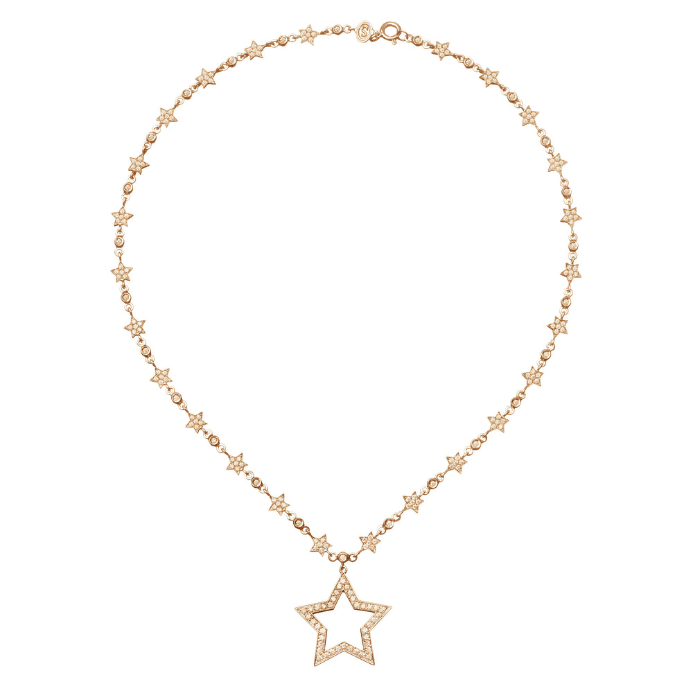Stella  Drop Chain  Necklace - Spallanzani Jewelry