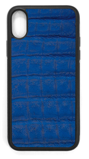 Crocodile Leather / cobalt