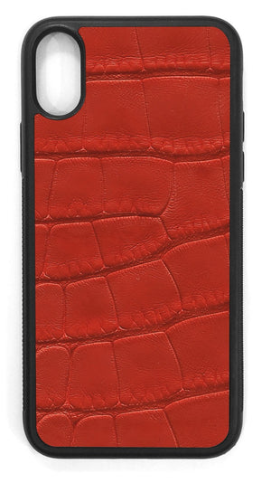 Alligator Leather / red