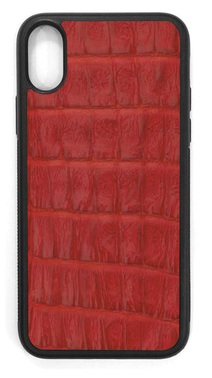 Crocodile Leather / red