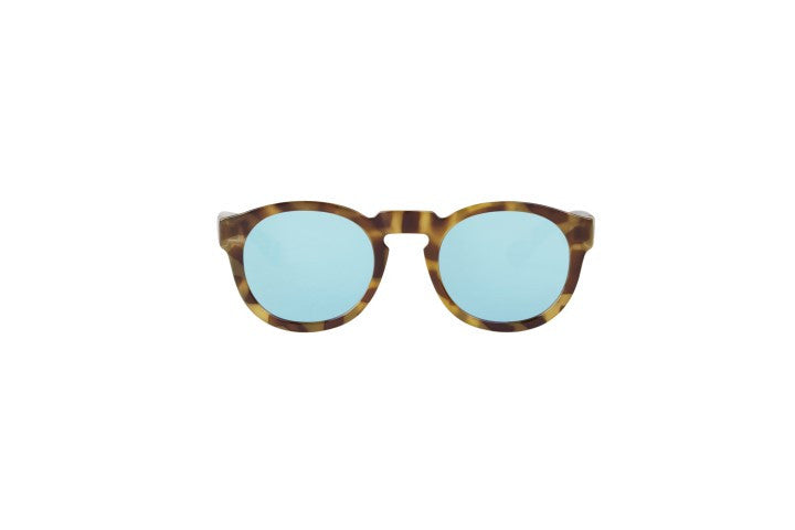 Tortoise Noord with sky blue lenses - The Menz