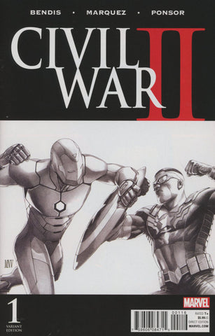 CIVIL WAR II #1 (OF 8) MCNIVEN SKETCH VAR