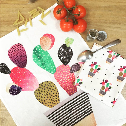 Happy Cactus Tea Towels