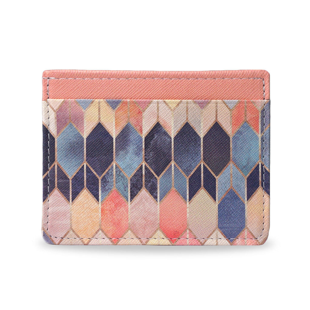 Create&Case - Colourful Printed Vegan Leather Card Holder - Stained Glass 3