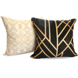 Golden Geo cushion, paired with Art deco