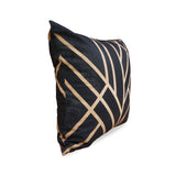 Art Deco Black - Modern Black & Gold Cushion from HETTY+SAM