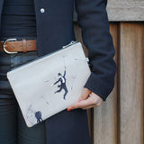 Au Revoir - Grey Clutch Bag, shop for unique gifts for her!