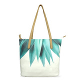 Agave Fringe - Luxury Vegan Leather Shoulder Bag in White & Green