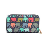 Elephants & Flamingo's - Womens Colourful Purse in Navy from HETTY+SAM