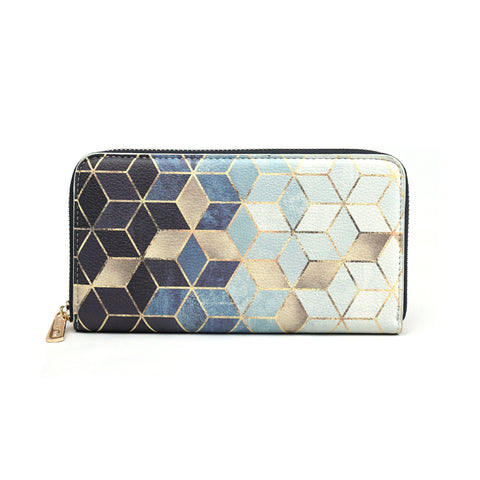Gradient Cubes - Luxury Blue & White Purse for Women from HETTY+SAM