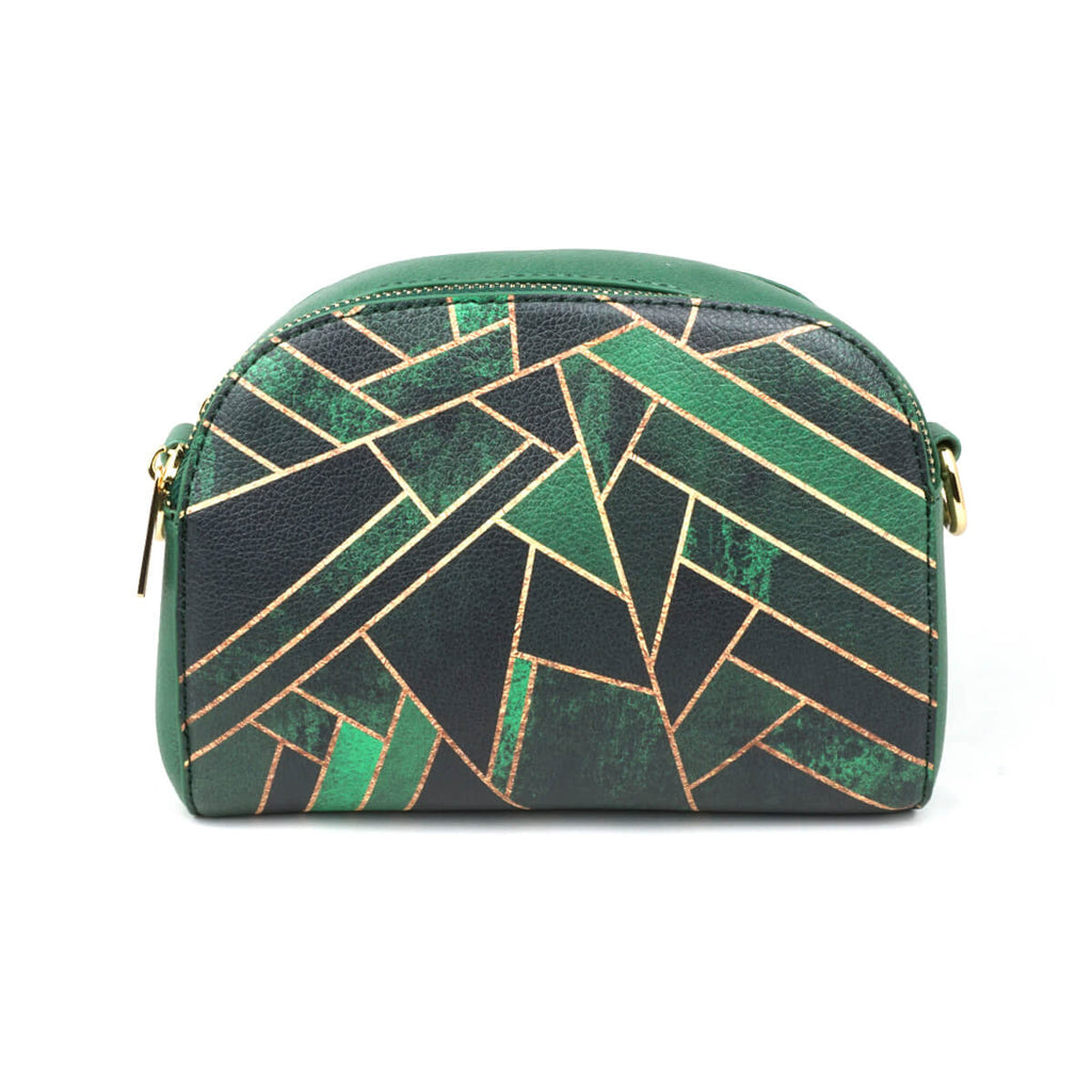 489268d578a0 ... Emerald Night - Green   Black Geometric Leather Cross Body Bag from  HETTY+ ...