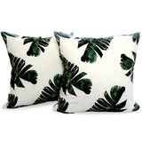 Banana Leaf - Tropical Green Leafy Cushion from HETTY+SAM