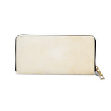 Big Town Fox - Womens Beige Vegan Zip Around Purse (Back)