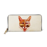 Big Town Fox - Womens Vegan Beige Zip Around Purse Wallet
