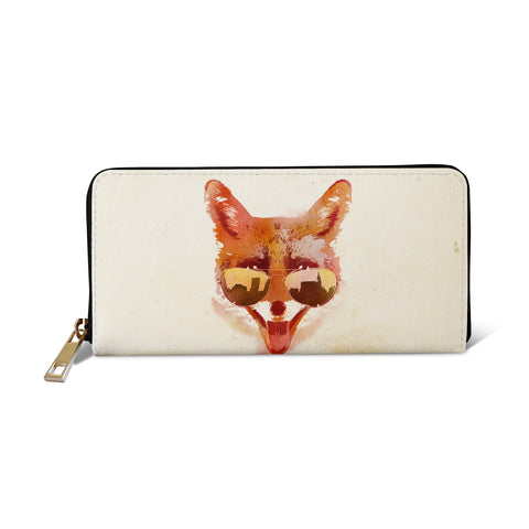 Womens vegan leather purse wallet - Big town Fox