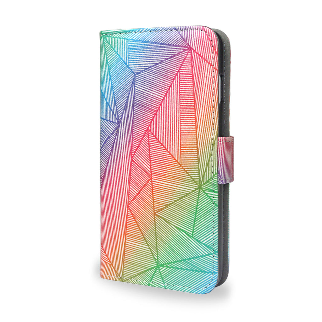 Billy Rays - Colourful iPhone SE leather wallet case, vegan leather cover, unique gifts