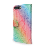 Billy Rays - Colourful iPhone SE leather wallet case, vegan leather cover, unique giftsBilly Rays - Colourful iPhone 7 Plus leather wallet case, vegan leather cover, unique gifts