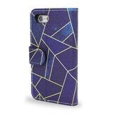 Samsung Galaxy S7 edge blue leather wallet case, s7 edge vegan leather, unique gifts, S7 edge case, createandcase