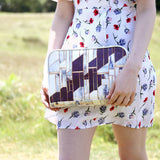 Large White, Blue & Marble Luxury Travel Wash Bag from HETTY+SAM