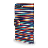 Blurry Lines - Striped iPhone 8 Plus Protective Wallet Case