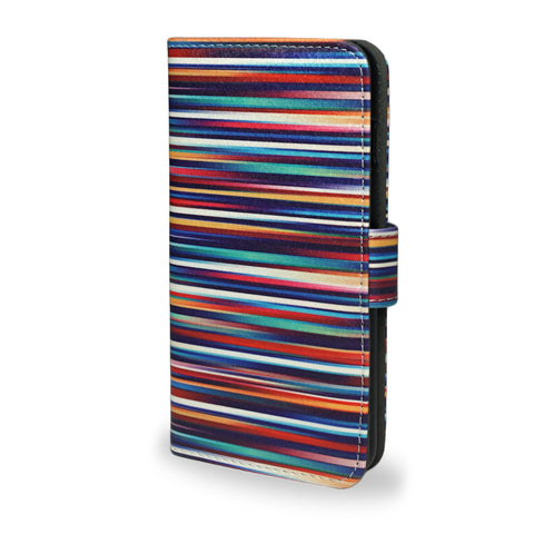 Blurry Lines vegan leather iPhone 6 & iPhone 6S wallet case, createandcase
