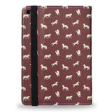 Brown Horses - Slim Animal Print Vegan Leather iPad Mini 4 Case from HETTY+SAM